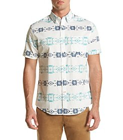 John Bartlett Consensus Men's Short Sleeve Printed Woven Button Down Shirt