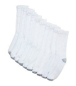 Hanes® Men's 10-Pack Ulitmate Cushion Crew Socks