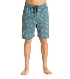 John Bartlett Statements Men's Blue Tile Knit Sleep Shorts