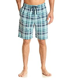 John Bartlett Statements Men's Plaid Knit Sleep Shorts