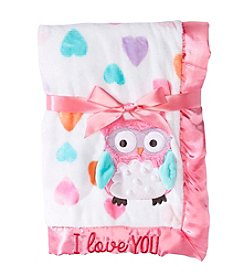 Cuddle Bear® Baby Girls' Owl Love Blanket