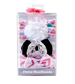 Cuddle Bear® Baby Girls' 3-Pack Hair Accessories