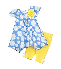 Cuddle Bear® Baby Girls' 2-Piece Daisy Top And Capris Set