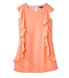 Sequin Hearts® Girls' 7-16 Chiffon Cap Sleeve Dress