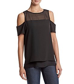 Calvin Klein Cold Shoulder Scoop Neck Blouse