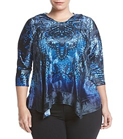 Oneworld® Plus Size Printed Hoodie