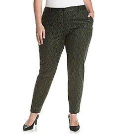 MICHAEL Michael Kors® Plus Size Snake Print Dress Pants