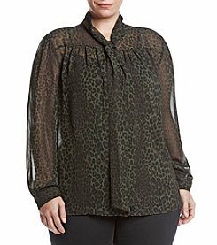 MICHAEL Michael Kors® Plus Size Panther Print Blouse