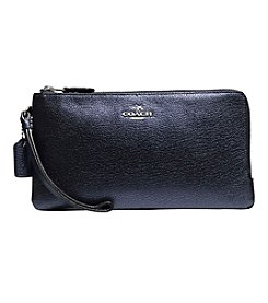 COACH DOUBLE ZIP WALLET IN COLORBLOCK LEATHER