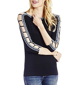 Jessica Simpson Embroidered Cold-Shoulder Top