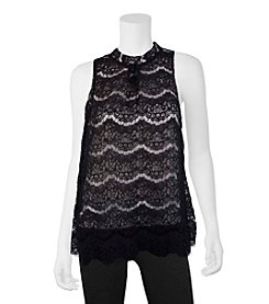 A. Byer Lace Overlay Tank