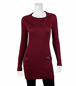 A. Byer Split Neck Tunic Top