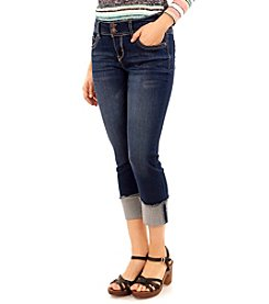 Wallflower® Fray Cuff Crop Jeans