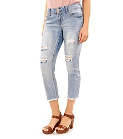 Wallflower® Fray Hem Crop Jeans