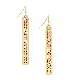 Jessica Simpson Beaded Bar Earrings