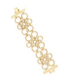 GUESS Goldtone Multi Link Bracelet