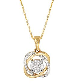 10K Yellow Gold 0.12 ct. t.w. Diamond Pendant Necklace