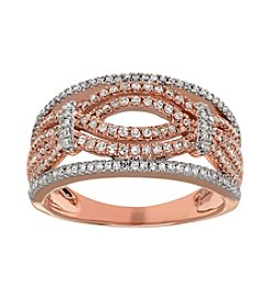 Twisted 10K Rose Gold 0.50 ct. t.w. Diamond Ring