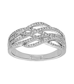 0.33ct Strand Diamond Ring in 10K White Gold