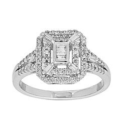 10K White Gold 0.37 ct. t.w. Diamond Ring