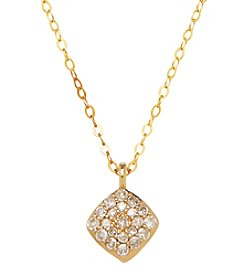 10K Yellow Gold 0.10 ct. t.w. Diamond Necklace