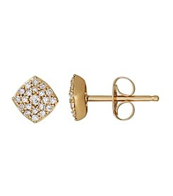 0.16 ct. t.w. Stud Diamond Earrings in 10K Yellow Gold