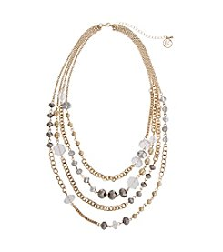 Erica Lyons® Estate Sale Multi Row Beaded Necklace