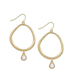 The Sak® Stone Drop Hoop Earrings
