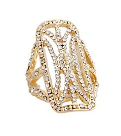 Erica Lyons® Open Rectangle Fashion Stretch Ring