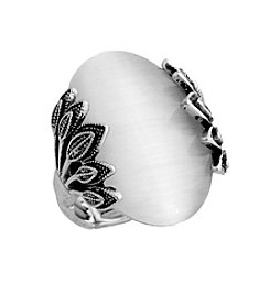 Erica Lyons® Oval Fashion Stretch Ring