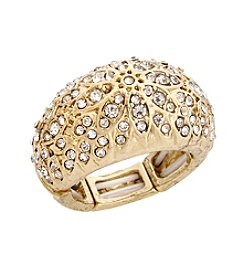 Erica Lyons® Pave Dome Fashion Stretch Ring