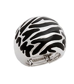 Erica Lyons® Animal Dome Fashion Stretch Ring