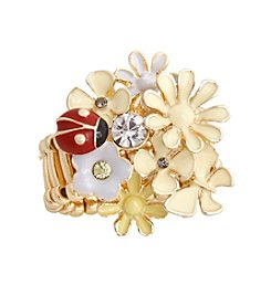 Erica Lyons® Flower Fashion Stretch Ring