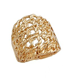 Erica Lyons® Chain Link Fashion Stretch Ring