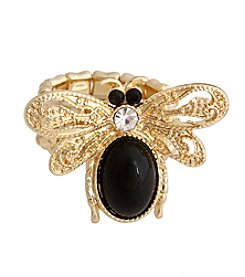 Erica Lyons® Glamorous Honey Bee Fashion Stretch Ring