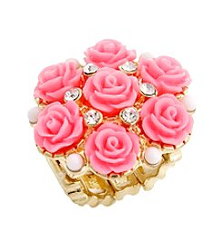 Erica Lyons® Glamorous Flower Fashion Stretch Ring