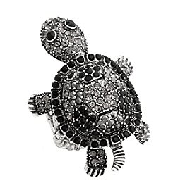 Erica Lyons® Glamorous Turtle Fashion Stretch Ring