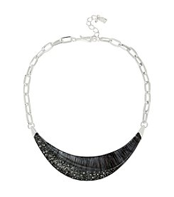 Robert Lee Morris Soho™ Pave Sculptural Frontal Necklace