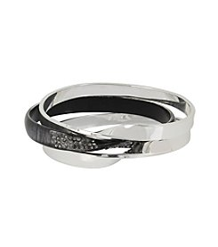 Robert Lee Morris Soho™ Pave Twist Bangle Bracelet Set