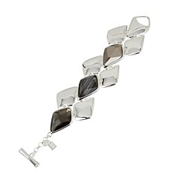 Robert Lee Morris Soho™ Geometric Faceted Stone Toggle Bracelet