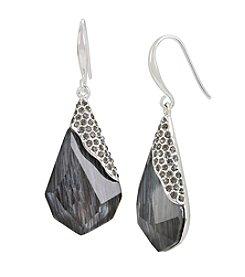 Robert Lee Morris Soho™ Pave Geometric Faceted Stone Drop Earrings