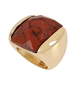 Robert Lee Morris Soho™ Tiger's Eye Faceted Stone Sculptural Ring
