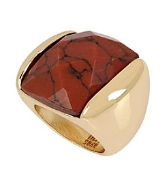 Robert Lee Morris Soho™ Faux Tiger's Eye Faceted Stone Sculptural Ring