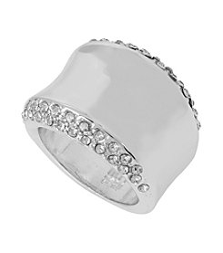 Robert Lee Morris Soho™ Pave Sculptural Silver Ring