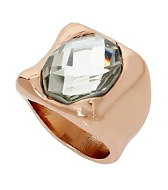 Robert Lee Morris Soho™ Crystal Faceted Stone Sculptural Ring