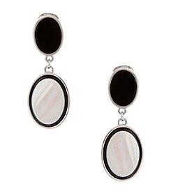 Erica Lyons® Oval Drop Clip Earrings