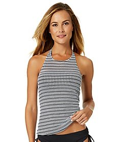 Anne Cole® High Neck Crochet Tankini Top