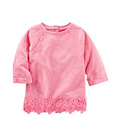 OshKosh B'Gosh® Girls' 2T-6X Lace Trim Top