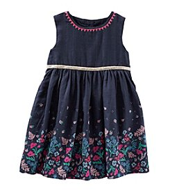 OshKosh B'Gosh® Girls' 2T-4T Dobby Floral Trim Dress