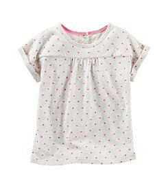 OshKosh B'Gosh® Girls' 2T-6X Mini Heart Printed Short Sleeve Tee